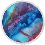 The Beauty Of Color 1 Round Beach Towel