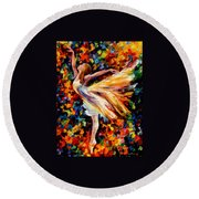 The Beauty Of Dance Round Beach Towel