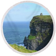 The Beauty Of Ire'land's Cliff's Of Moher In County Clare Round Beach Towel