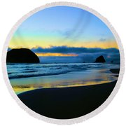 The Beauty Of The Moment Round Beach Towel