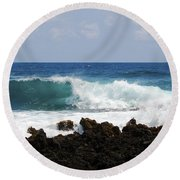 The Beauty Of The Sea Round Beach Towel