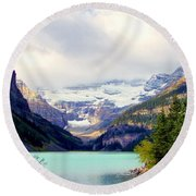 The Beauty Within Round Beach Towel
