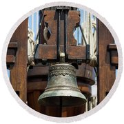 The Bell Of The Tall Ship Round Beach Towel