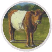 The Belted Cow Round Beach Towel