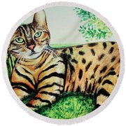 The Bengal Round Beach Towel