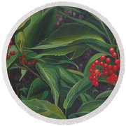 The Berries On Guanella Pass Round Beach Towel