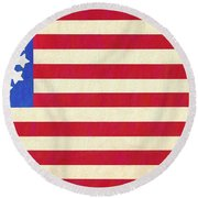 The Betsy Ross Flag Round Beach Towel