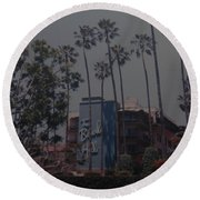 The Beverly Hills Hotel Round Beach Towel