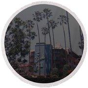 The Beverly Hills Hotel Round Beach Towel