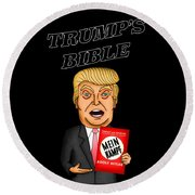 The Bible Of Trump Round Beach Towel