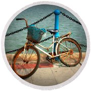 The Bicycle Round Beach Towel