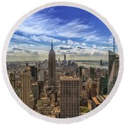 The Big Apple Round Beach Towel