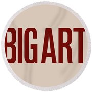 The Big Art - Dark Red On Egyptian Rose Round Beach Towel