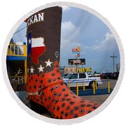 The Big Boot Round Beach Towel