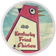 The Big Chicken Round Beach Towel