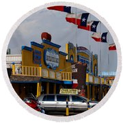 The Big Texan In Amarillo Round Beach Towel