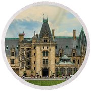 The Biltmore House Round Beach Towel