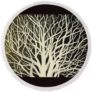 The Birch Tree Round Beach Towel