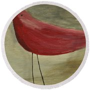 The Bird - Original Round Beach Towel