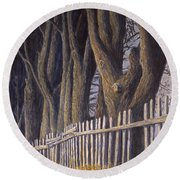 The Bird House Round Beach Towel by Jerry McElroy