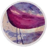 The Bird - K0912b Round Beach Towel