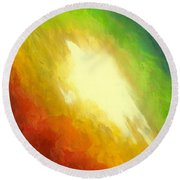 The Birth Of Conceit Round Beach Towel
