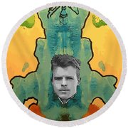 The Birth Of Rorschach The Inventor Of The Inkblot Test Round Beach Towel