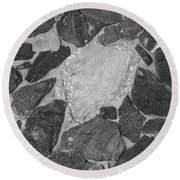 The Black Wall Round Beach Towel
