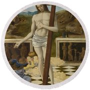 The Blood Of The Redeemer Round Beach Towel