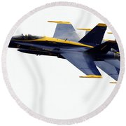the Blue Angels leads the diamond in the Echelon Round Beach Towel