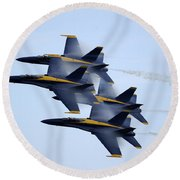 the Blue Angels perform a Diamond 360 Round Beach Towel