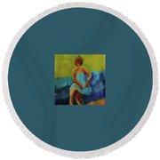 The Blue Dress Round Beach Towel