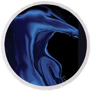 The Blue Kiss Round Beach Towel