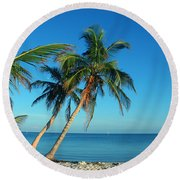 The Blue Lagoon Round Beach Towel by Susanne Van Hulst