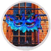 The Blue Mask Round Beach Towel