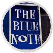 The Blue Note - Bourbon Street Round Beach Towel