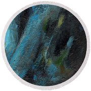 The Blue Roan Round Beach Towel