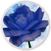 The Blue Rose Round Beach Towel