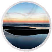 The Blue Zone California Round Beach Towel