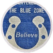 The Blue Zone Round Beach Towel