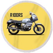 The R100rs Motorcycle 1977 Round Beach Towel