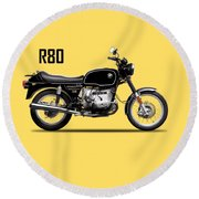 The R80 Motorcycle 1978 Round Beach Towel