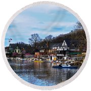 The Boat House Row Round Beach Towel