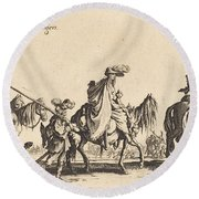 The Bohemians Marching: The Vanguard Round Beach Towel