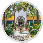 The Bonnet House - Interior Garden Round Beach Towel