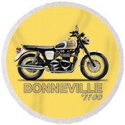 The Bonneville T100 Round Beach Towel