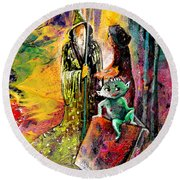 The Book Of Magic Round Beach Towel