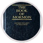 The Book Of Mormon Round Beach Towel