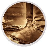 The Boots Round Beach Towel
