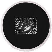 The Boots Black Round Beach Towel